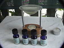 Aromatherapy tart burner, diffuser with 4 pure essential oils to go with it