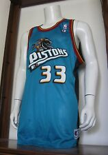 48 Mens Champion Grant Hill Detroit Pistons NBA Basketball Jersey Teal vtg NWT