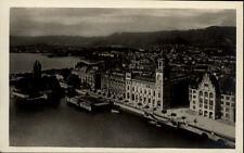 Zürich Schweiz alte Postkarte ~1930/40 Blick auf den Stadthausquai alte Häuser