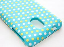 Samsung Galaxy S2 Epic 4G Touch D710 Sprint -HARD CASE TURQUOISE BLUE POLKA DOTS