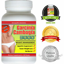 $6.00 Garcinia Cambogia Extract Pure 3000 Weight Loss 100% Diet Fat Burner HCA
