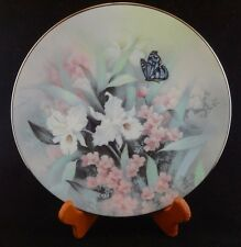 KNOWLES SAPPHIRE WINGS COLLECTORS' PLATE Flowers Butterfly ByTan Chun Chiu