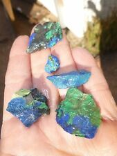 azurite royal blue mix lot rough cabbing lapidary copper world mine 16.7 gr