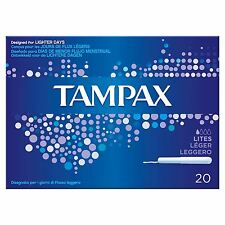12 Boxes of Tampax Cardboard Applicator Lites Tampons x20