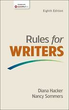 Rules for Writers by Diana Hacker and Nancy Sommers (2015, Paperback)
