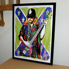 Leon Wilkeson, Lynyrd Skynyrd, Bass, Bassist, Southern Rock 18x24 POSTER w/COA1