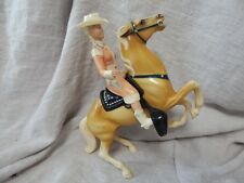 Vintage Hartland Annie Oakley Toy with Palomino Horse Target Saddle and Hat