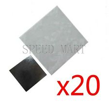 20pcs 20x20mm Double Side Square Thermal Adhesive Tape Pads for Heat Sink