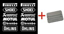 Brembo Öhlins Motorsport Stickers Sponsors Course Kit Motocycle Auto