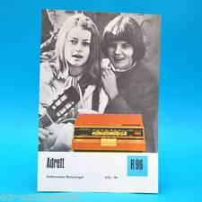 Adrett Volltransistor-Kleinstsuper 1971 Prospekt Werbung DEWAG Radio DDR R96 E