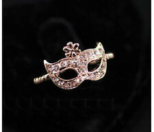 R230 BETSEY JOHNSON Venetian Carnevale Mask Tear Venice Carnival Ring  US