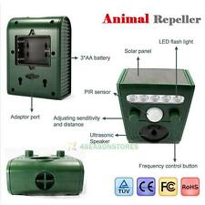Motion Solar Cat Repeller Garden Animal Scarer Sonic Pest Deterrent Dog Fox Rats
