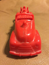 "Vintage Hubley KiddieToy Plastic Toy Fire Engine Truck 6"" Red"