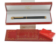 Cartier Vendome black lacquer fountain pen NOS new in box never inked
