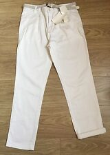 ZARA WOMAN NEW PREMIUM DENIM WEAR COTTON CHINOS TROUSERS JEANS  UK14 EU42. ZJ357
