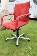 Artifort Designer Drehstuhl Bürostuhl rot gepolstert