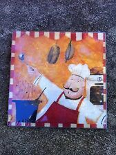Chef Square Glass Cutting Board or Trivet, Christmas or Hostess Gift, Kitchen