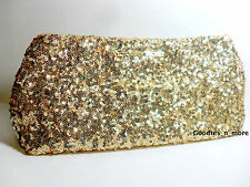 New Victoria's Secret Sparkling Gold Sequins Clutch/Purse