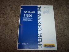 NH New Holland T1520 Tractor Owner Owner's Operator User Guide Manual Original
