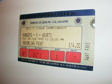 used ticket RANGERS FC Glasgow - HEARTS FC 28.02.1998