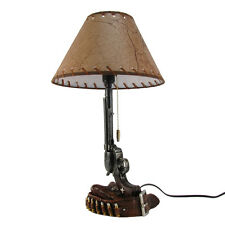 Revolver Gun&Bullet Holster Belt Table Lamp Pistol Desk Light Western Home Decor