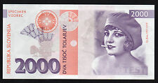 SLOVENIE - RARE Billet de 2000 TOLARJEV - ITA RINA - TEST SPECIMEN - NEUF - 2016