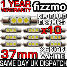 10x 37mm 3 Smd Led 239 272 C5w Canbus No Error Blanco Luz Interior Festoon bombilla