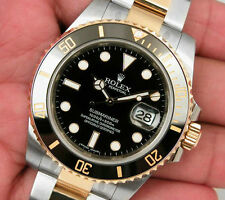 Rolex SUBMARINER 116613 Mens Steel & Yellow Gold Black Ceramic 40MM