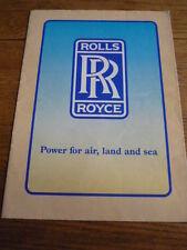 ROLLS ROYCE POWER BROCHURE