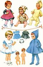 "Ginnette Tiny Tears Betsy Wetsy Doll Clothing PATTERN 7592 for 9"" Vogue dolls"