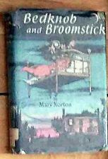 ☆RARE VG÷EX-LIB 1957*HC+FJ BOOK:MARY NORTON:BEDKNOB AND BROOMSTICK-LK PETER PAN☆