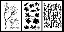 """3Pack! Spray Paint Camouflage Stencils 14"""" treeBark - Leaf Maple - Gnarly Branch"""