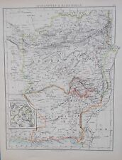 Map of Afghanistan. 1892. Original.Johnstons. ASiA
