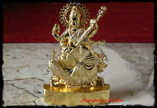 SARASWATI SARASVATI ANTIQUE IDOL STATUE OM HINDU GOD BLESSED OM ENERGIZED