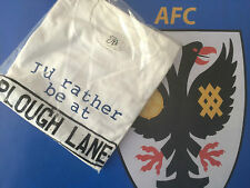 "AFC Wimbledon FC ""Plough Lane"" T-shirt (Large)"