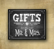 Gifts Wedding Sign for the new Mr. & Mrs. 8x10 - Rustic Chalkboard Collection