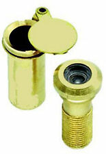 Solid Polished Brass Door Viewer / Peephole with Cover
