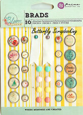 Scrapbooking Brads Bloom Collection Prima Marketing Inc. 30 pieces 980108 New