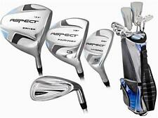 PETITE LADIES ASPECT GOLF CLUB SET GRAPHITE WOODS+HYBRIDS+GOLF BAG & FREE PUTTER