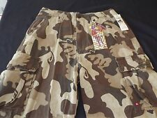 NEW MEN'S QUIKSILVER CARGO SHORTS - CAMOUFLAGE BROWN TAN SZ 28W NWT RET$52