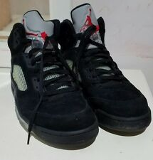 Sz 12 Nike Air Jordan V 5 Retro Black/Varsity Red-Metallic Silver 136027-010 3m