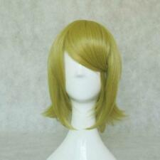 """Vocaloid Kagamine Rin 35cm 13""""Short Mix Gold Stick Up Universal Cos Party Wig 31"""