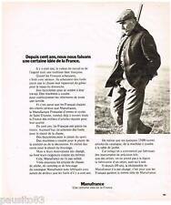 PUBLICITE ADVERTISING 095  1973  MANUFRANCE  accessoires pour chasseurs