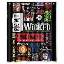 New Customize Design Custom Broadway Musical Collage Shower Curtain 60x72 inch