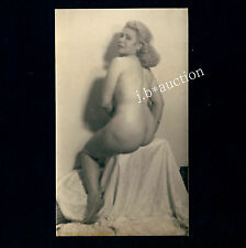 CLASSIC NUDE STUDY OF BIG BUTT BLOND WOMAN / DICKER PO AKT * Vintage 30s Photo