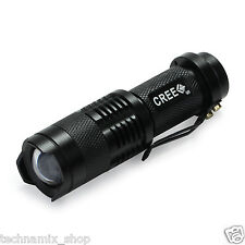 UltraFire LED Flashlight Aluminium Mini Torch 2000 LM Lumens Zoomable Flashlight