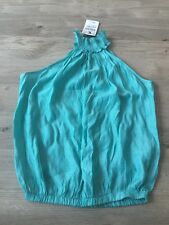 Green/Teal Halter Neck Zara Top, New With Tags, Size Small