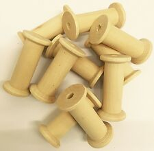 Wooden Bobbins Spools 50mm 10 Pack Sewing Ribbon Textile Yarn Craft FREE POST