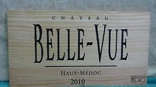2010 CHATEAU BELLE VUE HAUT MEDOC WOOD WINE PANEL END 3/8'' THICKNESS