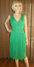 ROBERTO CAVALLI CLASS green Dress Sz IT 48 US  sz 14 new